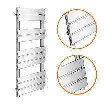 1000 x 450mm Flat Panel Chrome Ladder Towel Radiator