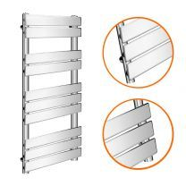 1000 x 600mm Flat Panel Chrome Ladder Towel Radiator