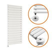 1003 x 400mm Electric White Single Oval Panel Vertical Radiator