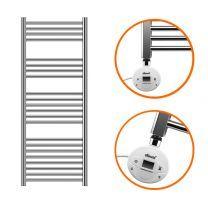 1200 x 400mm Electric Chrome Heated Towel Rail