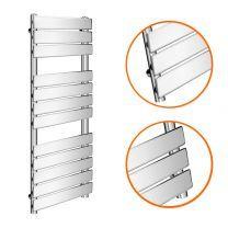 1200 x 450mm Flat Panel Chrome Ladder Towel Radiator