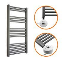 1200 x 500mm Electric Anthracite Heated Towel Rail