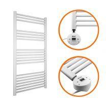 1200 x 500mm Electric White Heated Towel Rail