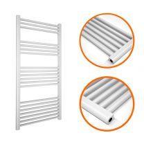 1200 x 500mm Straight White Heated Towel Rail