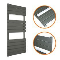 1200 x 600mm Anthracite Heated Towel Rail, Bathroom Radiator