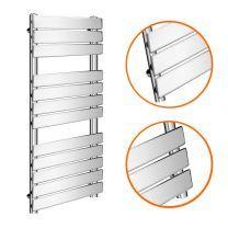 1200 x 600mm Flat Panel Chrome Ladder Towel Radiator