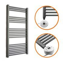 1200 x 600mm Electric Anthracite Heated Towel Rail
