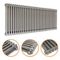 600 x 1508mm Raw Metal Lacquered Horizontal Traditional 2 Column Radiator