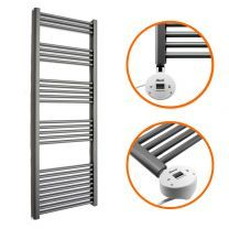 1600 x 400mm Electric Anthracite Heated Towel Rail