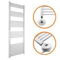 1600 x 400mm Electric White Heated Towel Rail