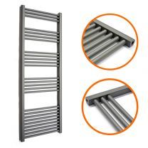 1600 x 400mm Straight Anthracite Heated Towel Rail