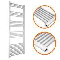 1600 x 400mm Straight White Heated Towel Rail