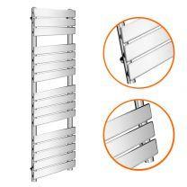 1600 x 450mm Flat Panel Chrome Ladder Towel Radiator