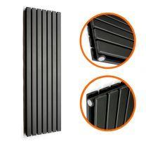 1780 x 490mm Black Double Flat Panel Vertical Radiator