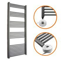 1600 x 500mm Electric Anthracite Heated Towel Rail