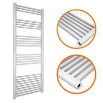 1600 x 500mm Straight White Heated Towel Rail
