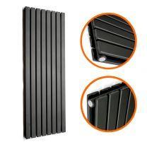 1780 x 560mm Black Double Flat Panel Vertical Radiator