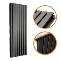 1780 x 560mm Black Single Flat Panel Vertical Radiator