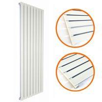 1780 x 560mm White Single Flat Panel Vertical Radiator