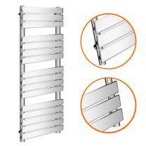 1600 x 600mm Flat Panel Chrome Ladder Towel Radiator