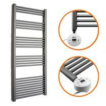 1600 x 600mm Electric Anthracite Heated Towel Rail