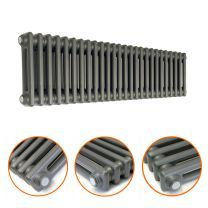 300 x 1193mm Anthracite Horizontal Traditional 2 Column Radiator