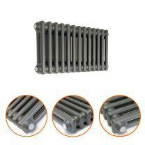 300 x 608mm Anthracite Horizontal Traditional 2 Column Radiator