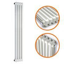 1800 x 203mm White Vertical Traditional 2 Column Radiator