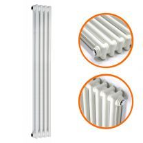 1500 x 203mm White Vertical Traditional 2 Column Radiator