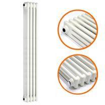 1800 x 203mm White Vertical Traditional 3 Column Radiator