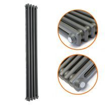 1800 x 203mm Anthracite Vertical Traditional 2 Column Radiator