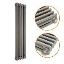 1800 x 293mm Raw Metal Lacquered Vertical Traditional 3 Column Radiator