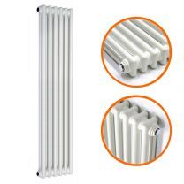 1800 x 293mm White Vertical Traditional 2 Column Radiator
