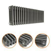 300 x 1013mm Anthracite Horizontal Traditional 3 Column Radiator