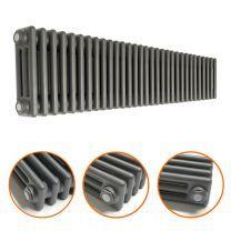 300 x 1508mm Anthracite Horizontal Traditional 3 Column Radiator