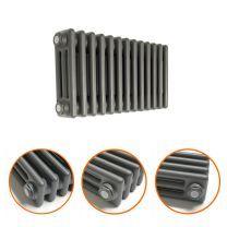 300 x 608mm Anthracite Horizontal Traditional 3 Column Radiator