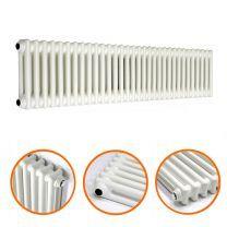 300 x 1508mm White Horizontal Traditional 2 Column Radiator