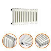 300 x 608mm White Horizontal Traditional 2 Column Radiator