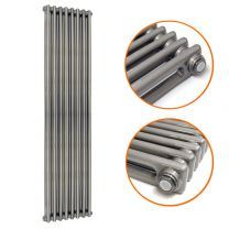 1800 x 383mm Raw Metal Lacquered Vertical Traditional 2 Column Radiator