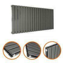 400 x 1400mm Anthracite Double Flat Panel Horizontal Radiator