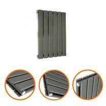 400 x 420mm Anthracite Double Flat Panel Horizontal Radiator
