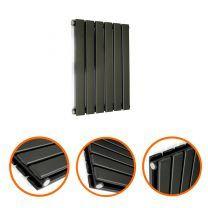 400 x 420mm Black Double Flat Panel Horizontal Radiator