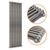 1800 x 470mm Raw Metal Lacquered Vertical Traditional 2 Column Radiator