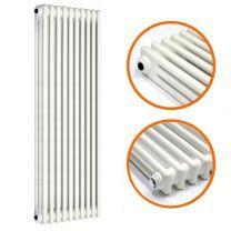 1800 x 470mm White Vertical Traditional 3 Column Radiator