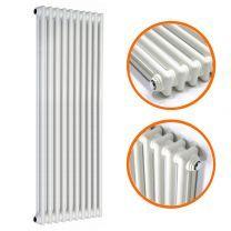 1800 x 470mm White Vertical Traditional 2 Column Radiator