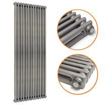 1800 x 560mm Raw Metal Lacquered Vertical Traditional 2 Column Radiator