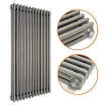 1800 x 560mm Raw Metal Lacquered Vertical Traditional 3 Column Radiator