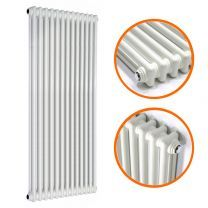 1800 x 560mm White Vertical Traditional 2 Column Radiator