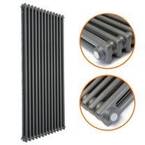 1800 x 560mm Anthracite Vertical Traditional 2 Column Radiator