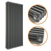 1800 x 560mm Anthracite Vertical Traditional 3 Column Radiator